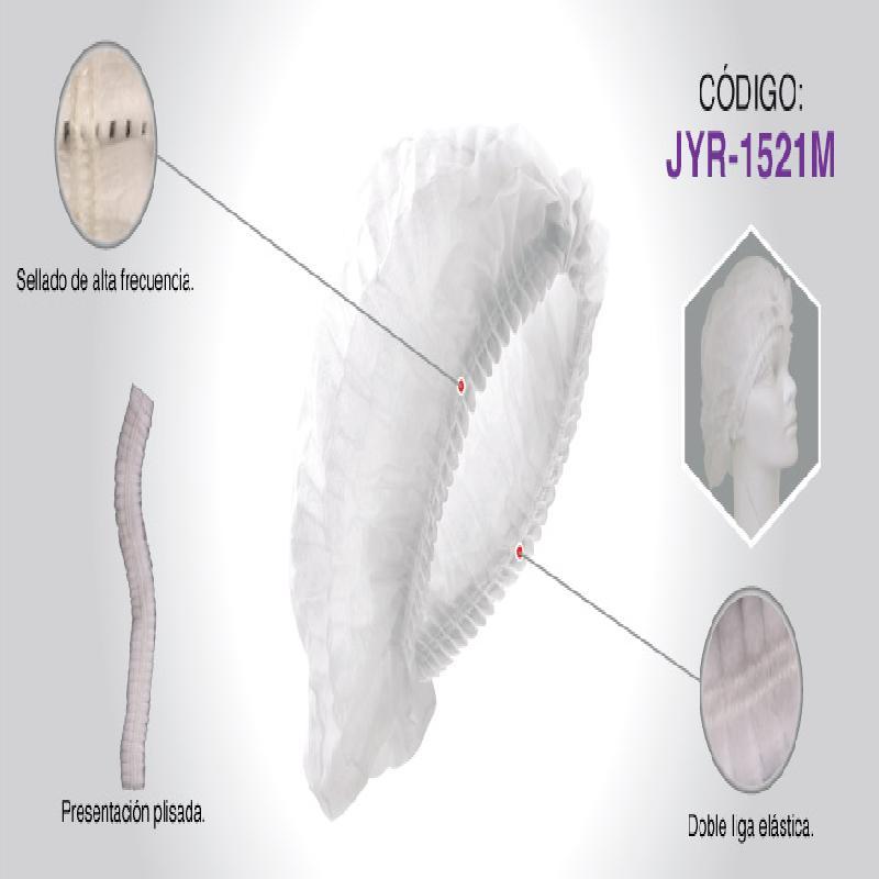 ISICLEAN - Gorro Blanco Plisado Paq. C/100 PZAS