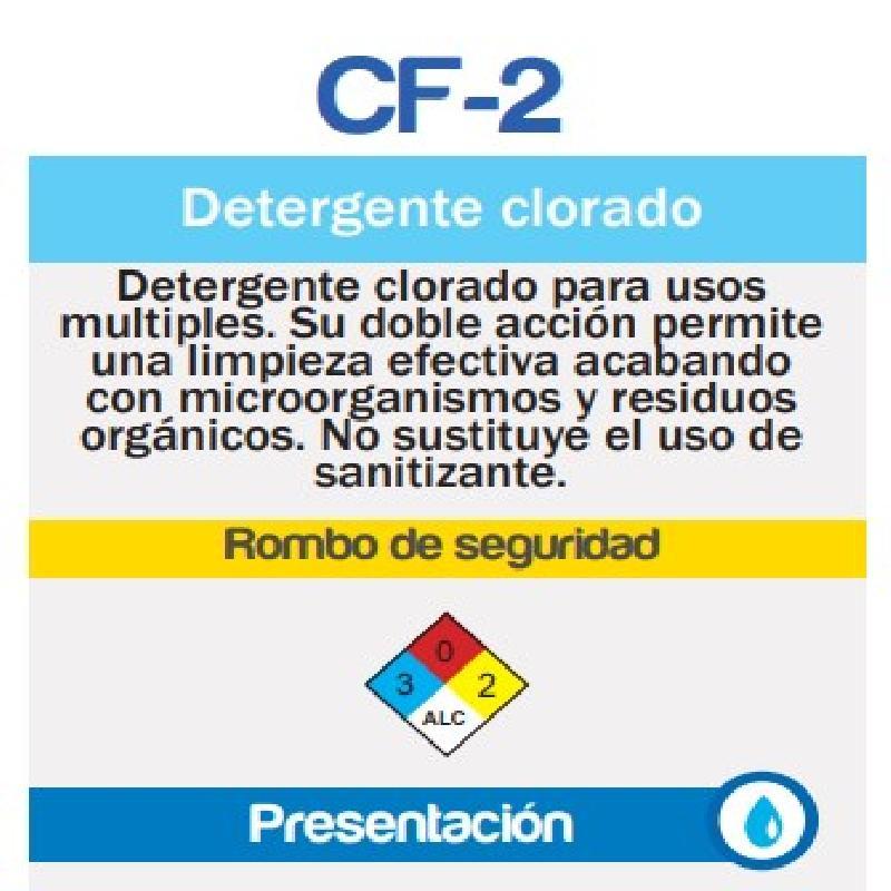 ISICLEAN - Detergente Alcalino Clorado Alta Espuma Cf-2