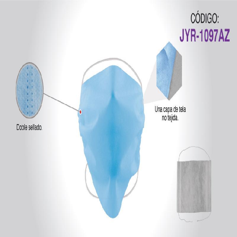 ISICLEAN - Cubreboca  Azul Sellado de UnaCapa 150 PZAS