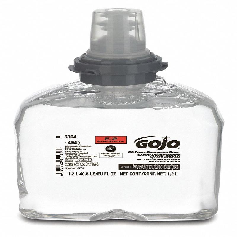 ISICLEAN - Jabón desinfectante de espuma E2 2/1.2 LT para dispensador GOJO TFX