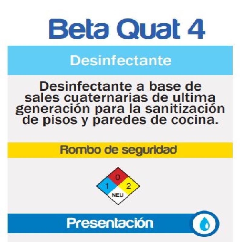 ISICLEAN - Desinfectante y Sanitizante Beta Quat 4
