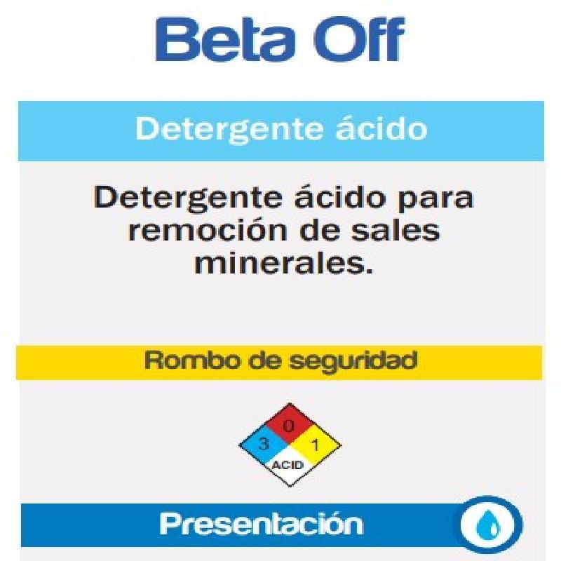ISICLEAN - Detergente Acido Liquido Baja Espuma Beta OFF