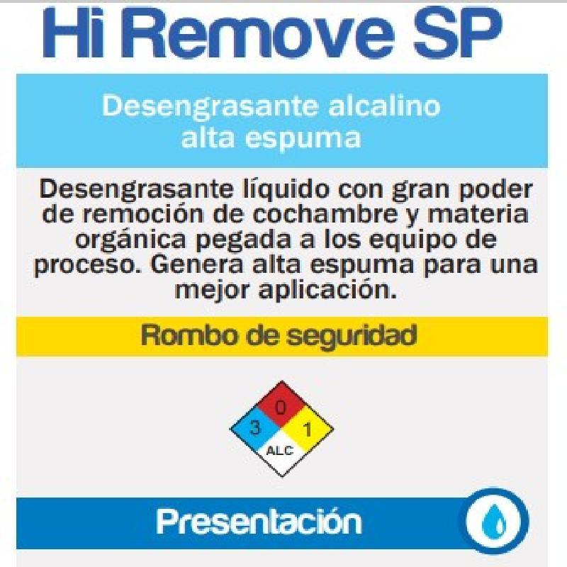 ISICLEAN - Detergente Alcalino Alta Espuma Hi Remove Sp