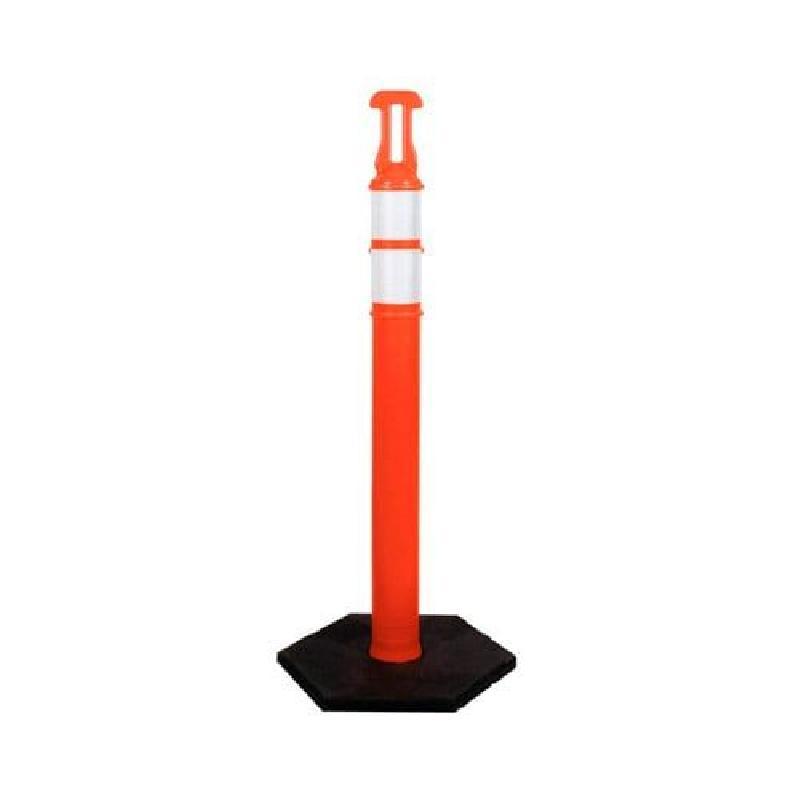 ISICLEAN - Poste Naranja de 1.20 m/Reflejantes